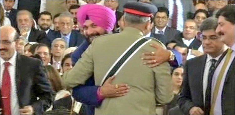 Image result for najwat singh sidho meet pakistan coas