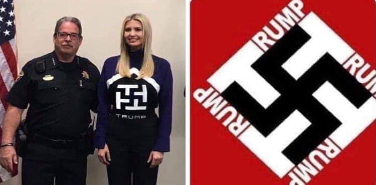 Did Ivanka Trump pose in sweater with swastika design?